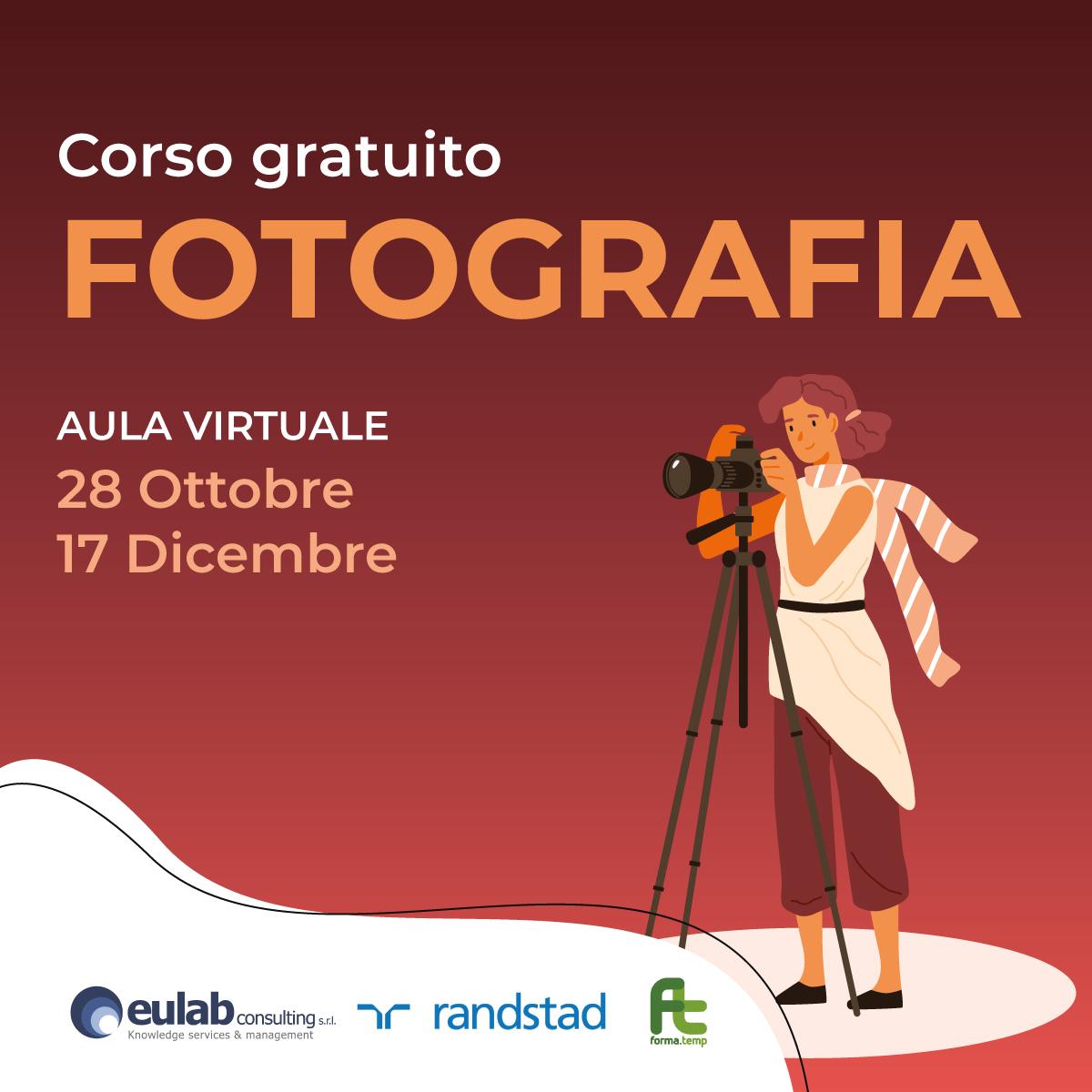 Corso di Formazione Professionale Gratuito in FOTOGRAFIA (OTTOBRE 2021)